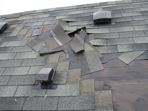 Damaged Roof that needs Repair Work