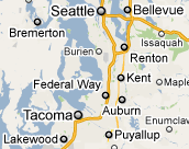 Auburn, Kent & Federal Way, Washington Roofing Service Area
